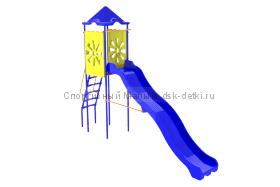 Горка (3 м) с домиком Василек
